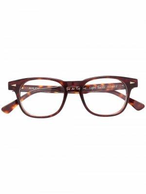 Очки в квадратной оправе Ahlem. Цвет: коричневый
