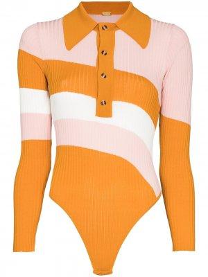 Боди Hera в стиле колор-блок Dodo Bar Or. Цвет: оранжевый