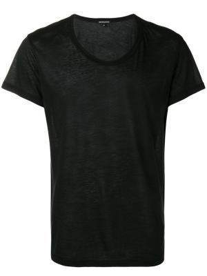 Однотонная футболка Ann Demeulemeester. Цвет: черный
