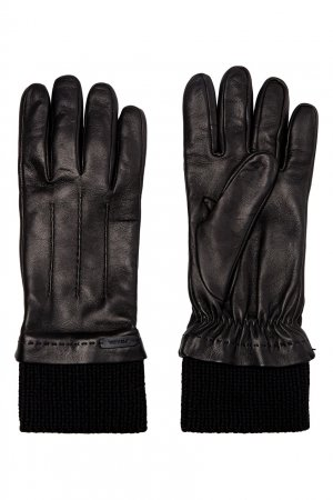 Перчатки из кожи наппа Prada. Цвет: черный