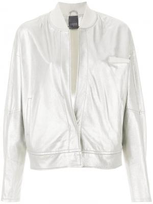 Куртка-бомбер Lorena Antoniazzi. Цвет: металлик