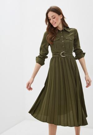 Платье Sisley. Цвет: хаки