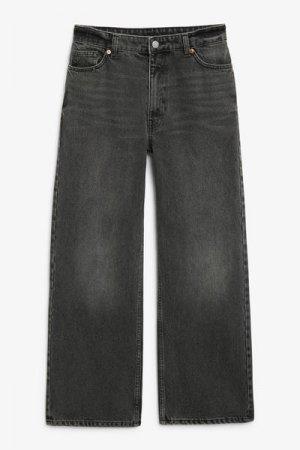 Укороченные джинсы Yoko Monki. Цвет: черный