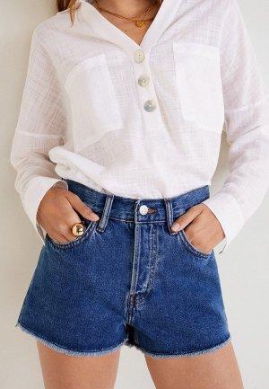 Шорты джинсовые Mango - ICONIC. Цвет: синий
