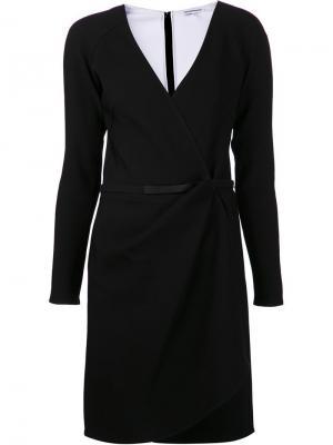 Платье с запахом Kaufmanfranco. Цвет: чёрный