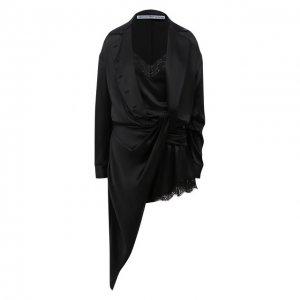 Шелковое платье Alexander Wang. Цвет: чёрный