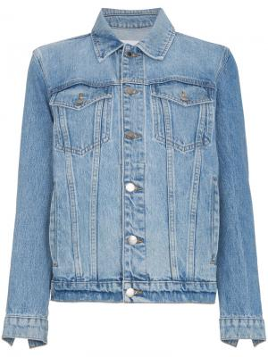 Джинсовая оверсайз-куртка Le Jacket FRAME. Цвет: синий