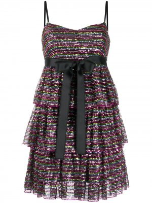 Короткое платье с пайетками RedValentino. Цвет: черный