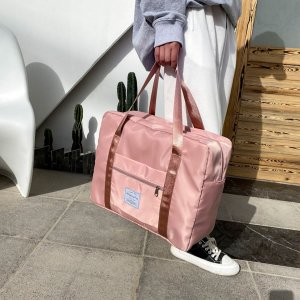 Дорожная сумка большой емкости SHEIN. Цвет: розовые
