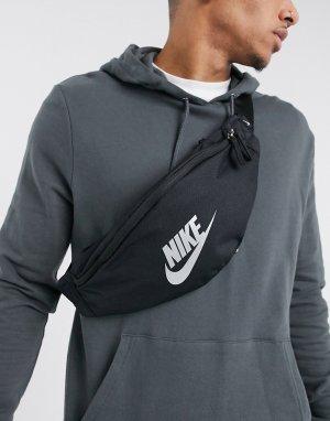 Черная сумка-кошелек на пояс Heritage-Черный Nike