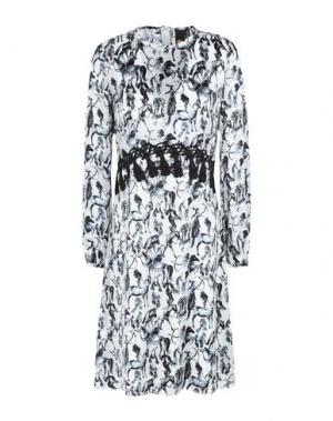Платье до колена GIULIA ROSITANI. Цвет: белый