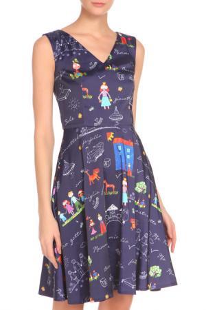 Платье Ketroy. Цвет: синий