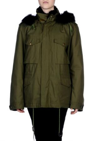 Куртка BeaYukMui. Цвет: зеленый