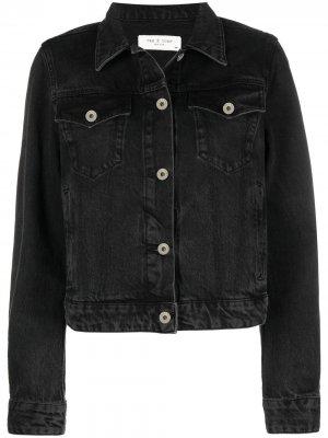 Укороченная джинсовая куртка Rag & Bone. Цвет: черный