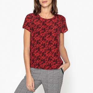 Блузка с короткими рукавами и рисунком IKKS. Цвет: наб. рисунок красный