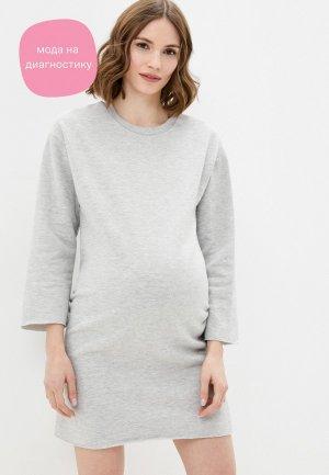 Платье Dorothy Perkins Maternity. Цвет: серый