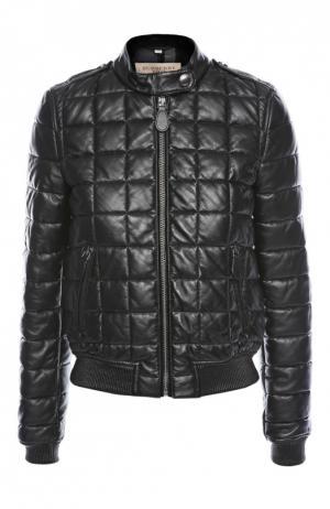 Куртка кожаная Burberry Brit. Цвет: черный