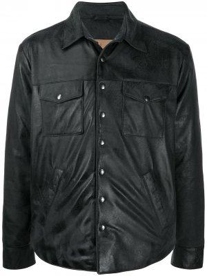 Leather shirt jacket Giorgio Brato. Цвет: черный