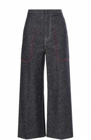 Джинсовые кюлоты с накладными карманами Aquilano Rimondi. Цвет: синий