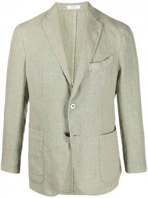 Пиджак K- jacket на пуговицах Boglioli. Цвет: зеленый