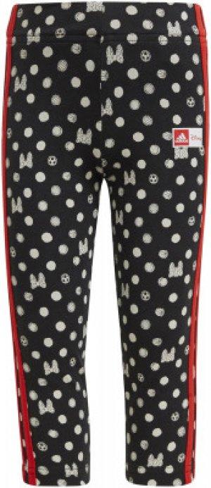 Бриджи для девочек adidas Disney, размер 128. Цвет: черный