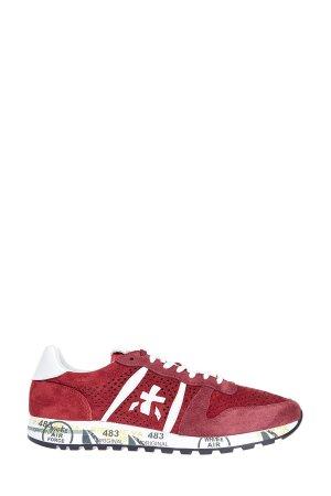 Перфорированные кроссовки Eric на сверхлегкой подошве PREMIATA. Цвет: красный