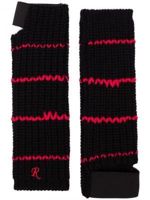 Перчатки без пальцев Raf Simons. Цвет: черный