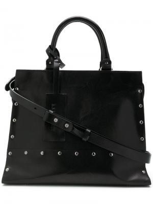 Средняя сумка-тоут с заклепками A.F.Vandevorst. Цвет: черный