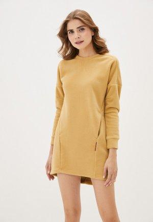 Платье Merrell. Цвет: желтый