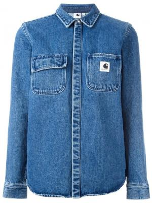 Джинсовая куртка Carhartt. Цвет: синий