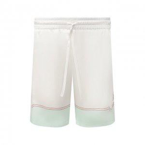 Шелковые шорты Casablanca. Цвет: белый