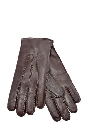 Перчатки ручной работы из кожи наппа и кашемира MORESCHI. Цвет: коричневый
