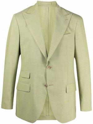 Однобортный пиджак LUIGI BIANCHI MANTOVA. Цвет: черный