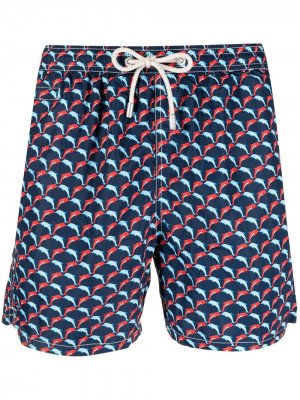 Dolphin Parade-print swim shorts Mc2 Saint Barth. Цвет: синий