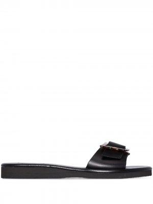 Шлепанцы Aglaia Ancient Greek Sandals. Цвет: черный