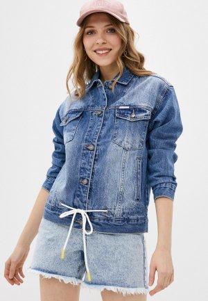 Куртка джинсовая Krapiva. Цвет: голубой