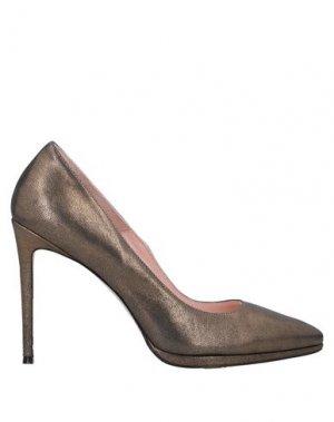 Туфли ANNA F.. Цвет: бронзовый