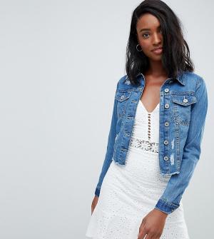 Укороченная джинсовая куртка Parisian Tall. Цвет: синий
