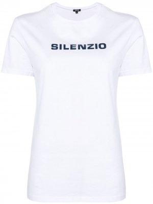 Футболка с принтом Silenzio Aspesi. Цвет: белый