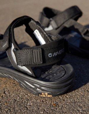 Черные походные сандалии Ula Raft-Черный цвет Hi-Tec
