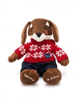 Плюшевый медведь в джемпере Harmont & Blaine Junior. Цвет: красный