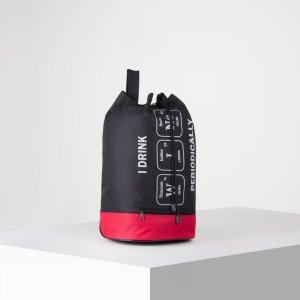 Рюкзак-торба молодёжный, отдел на стяжке шнурком, цвет чёрный/красный NAZAMOK