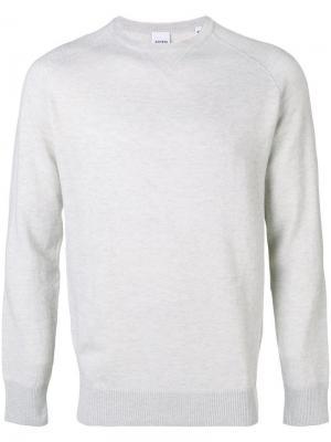 Приталенный свитер с длинными рукавами Aspesi. Цвет: серый