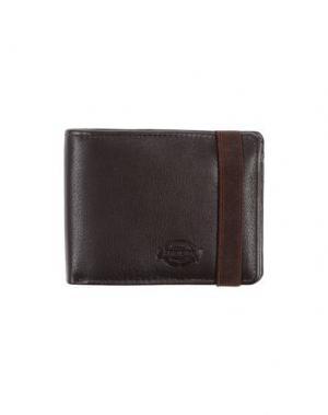 Бумажник DICKIES. Цвет: темно-коричневый