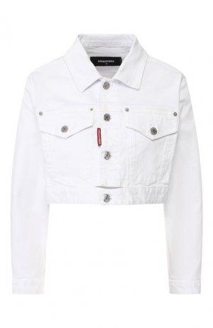 Джинсовая куртка Dsquared2. Цвет: белый