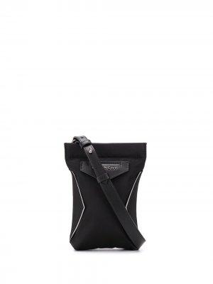 Сумка на плечо с металлическим логотипом Givenchy. Цвет: черный