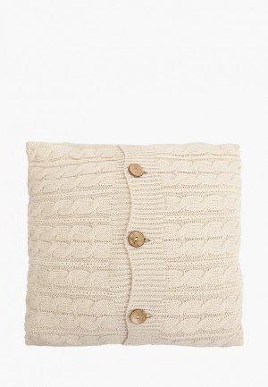 Наволочка декоративная Sofi De Marko 45х45 см. Цвет: бежевый