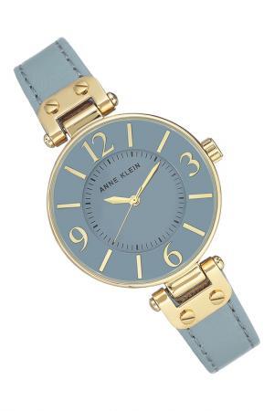 Часы наручные Anne Klein. Цвет: голубой, золотой