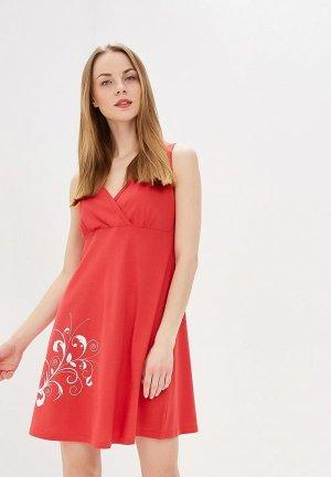 Сорочка ночная Hunny mammy. Цвет: красный