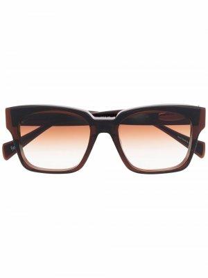 Солнцезащитные очки Safari Rider в квадратной оправе EQUE.M. Цвет: коричневый